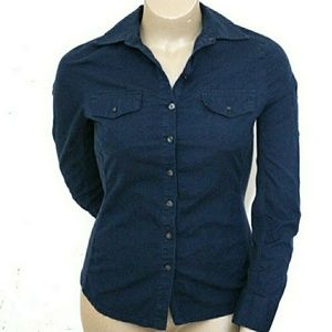 Converse M, Stretch Panel Navy Button Up